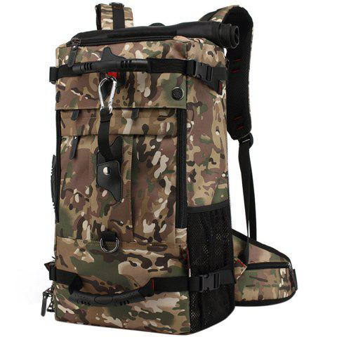 KAKA Hiking Backpack Oxford Cloth Outdoor Travel Bag Large Capacity for Men - ACU CAMOUFLAGE