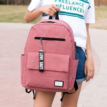 Stylish Fashionable Canvas Backpack for Work School - PINK