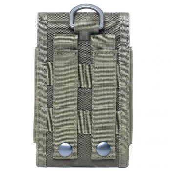 Self Adhesive Nylon Phone Bag for Outdoor Sports - CAMOUFLAGE GREEN