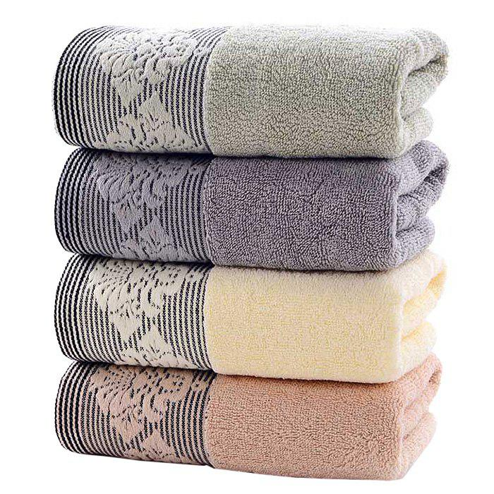 Thickened Home Water Absorbent Soft Face Cotton Towel for Adult 4 PCS - multicolor A