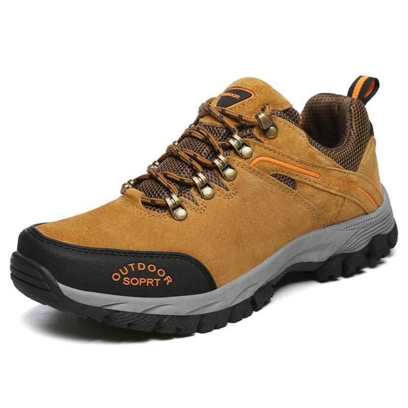 Anti-slip Outdoor Hiking Shoes - LIGHT BROWN 47