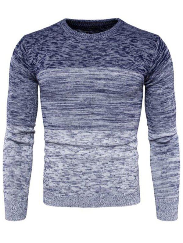 Round Neck Comfortable Sweater for Man - BLUE 3XL