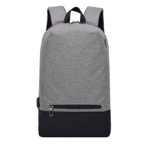Polyester Casual Student Backpack - DARK GRAY