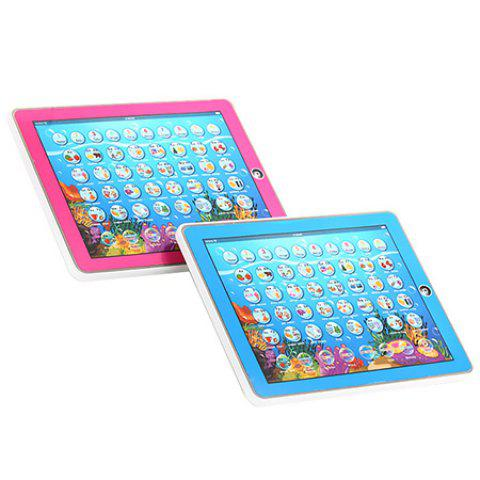 2D Multifunctional Learning Computer Tablet Toy English / Russian Switchable - ROSE RED