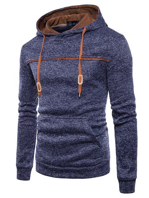 Trendy Classic Hooded Comfortable Cotton Hoodie for Men - CADETBLUE 3XL