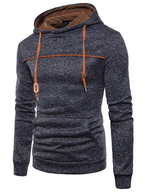 Trendy Classic Hooded Comfortable Cotton Hoodie for Men - BLACK 3XL