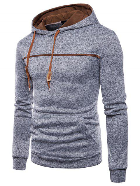 Trendy Classic Hooded Comfortable Cotton Hoodie for Men - LIGHT GRAY 3XL