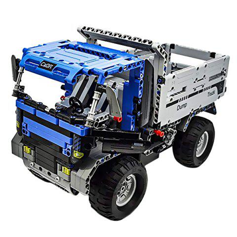 CaDA C51017W Remote Control Building Block Engineering Car for Entertainment - ROYAL BLUE