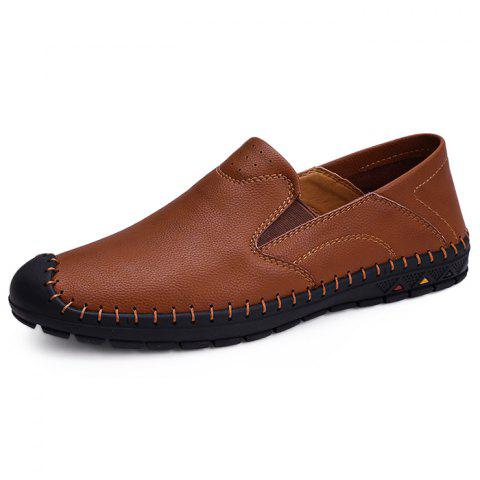 Loisirs Chaussures confortables Oxford Slip-on Casual pour hommes - Brun 46