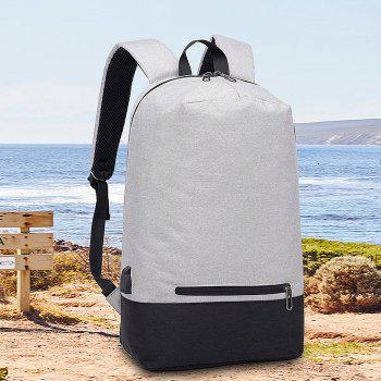 Polyester Casual Student Backpack - LIGHT GRAY