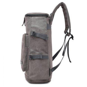 Wearable Canvas Large Capacity Backpack - COFFEE
