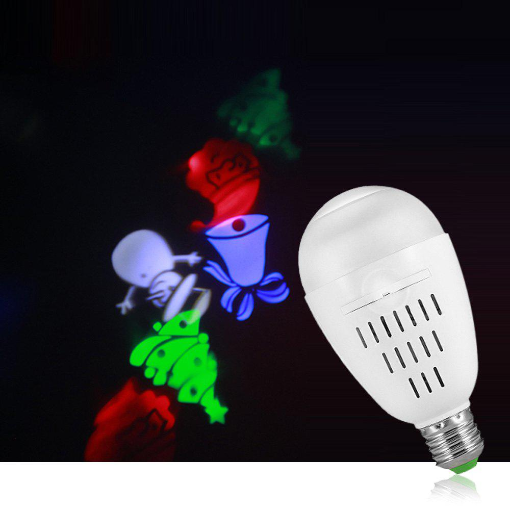 E27 LED Projection Bulb AC120 - 265V for Christmas Stage Wedding Birthday Party Decoration - WHITE