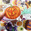 Non-repetitive Colorful Halloween Decoration Stickers 100pcs - multicolor