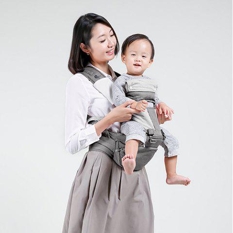 Xiaomi Youpin Multi-function Baby Carrier Waist Stool Infant Hip Seat - DARK GRAY