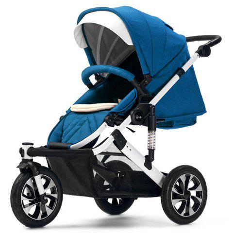WLA Three-wheeled Baby Stroller Cart for Safety Seat - PEACOCK BLUE