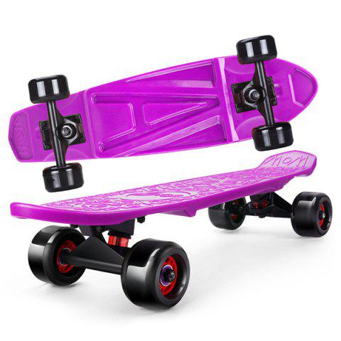 Trendy Cool Four-wheel Street Skateboard for Kids 1pc - PURPLE