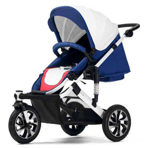 WLA Three-wheeled Baby Stroller Cart for Safety Seat - WHITE