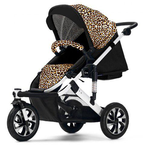 WLA Three-wheeled Baby Stroller Cart for Safety Seat - CAMEL BROWN