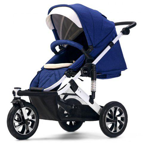 WLA Three-wheeled Baby Stroller Cart for Safety Seat - DEEP BLUE