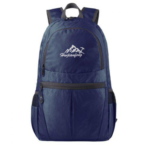 HUWAIJIANFENG Fashion Outdoor Lightweight Foldable Water-resistant Backpack - DEEP BLUE