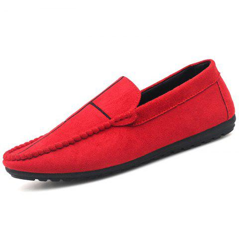 Casual Stylish Loafers for Men - RED 44
