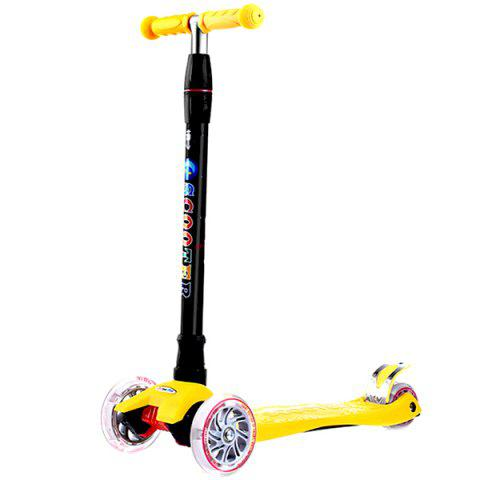 Adjustable Height 3 Wheel Kick Scooter for Kids - YELLOW