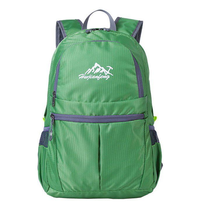 HUWAIJIANFENG Fashion Outdoor Lightweight Foldable Water-resistant Backpack - FOREST GREEN