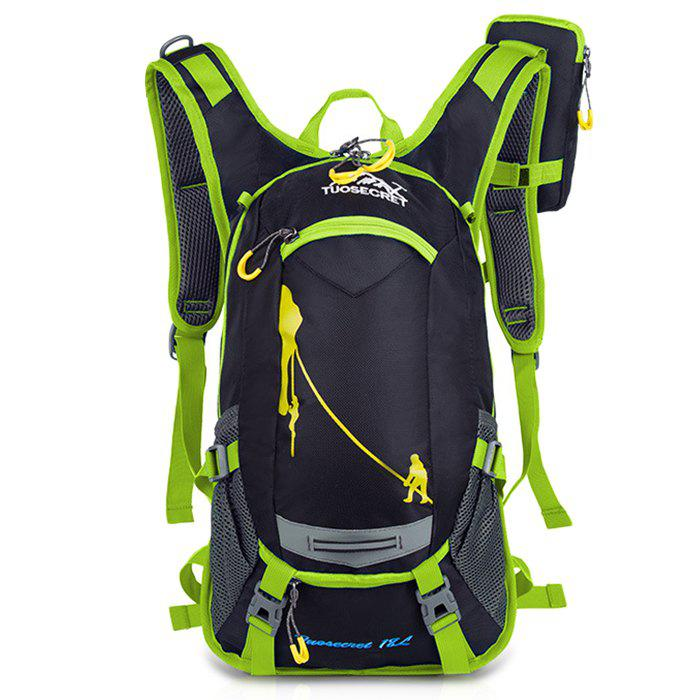 HUWAIJIANFENG Fashion Outdoor Breathable Water-resistant Cycling Backpack - HUMMINGBIRD GREEN