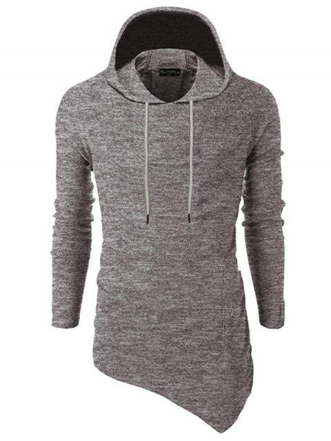 Stylish Comfortable Cotton Creative Slim Hooded Hoodie for Men - LIGHT KHAKI 2XL
