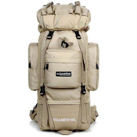 OutdoorLocallion Large Storage Oxford Cloth Backpack for Hiking Camping - WARM WHITE