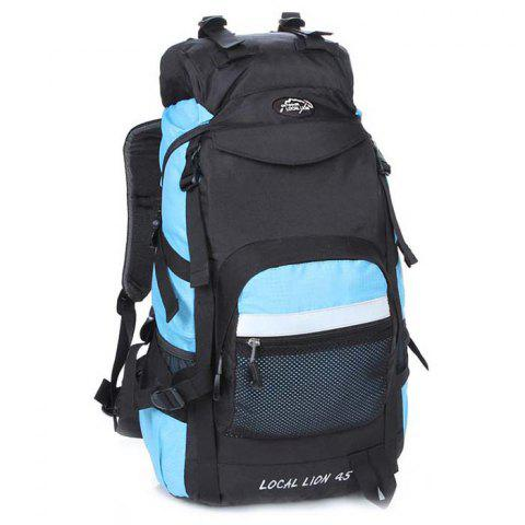 OutdoorLocallion Waterproof 50L Backpack for Camping - LIGHT BLUE