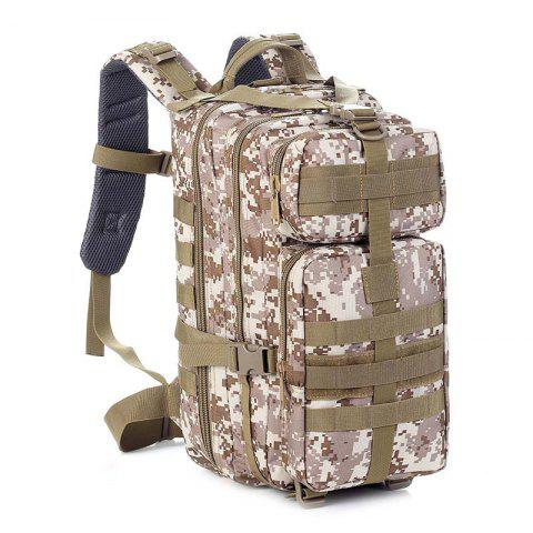 HUWAIJIANFENG 30L Solid Color Nylon Backpack for Outdoor Sports - DIGITAL DESERT CAMOUFLAGE