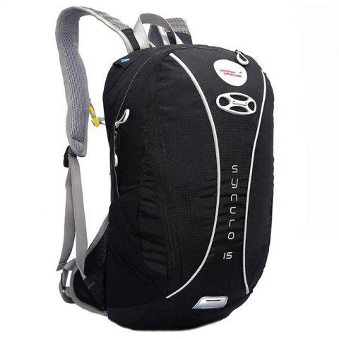 OutdoorLocallion Nylon Light Weight Backpack for Cycling Hiking - BLACK