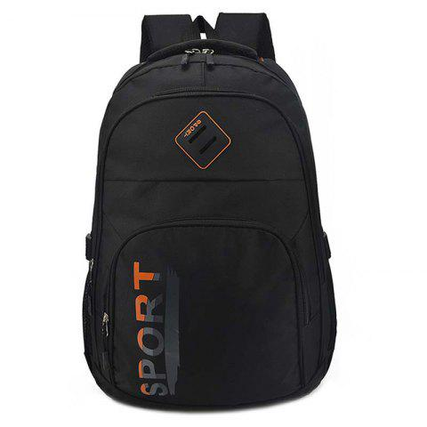 Solid Color Casual Backpack for Travel School - BLACK 2