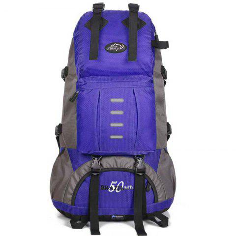 OutdoorLocallion Light Weight Backpack for Hiking Traveling - BLUE LOTUS