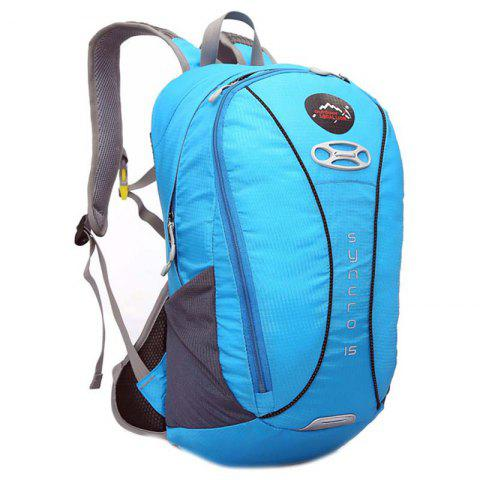 OutdoorLocallion Nylon Light Weight Backpack for Cycling Hiking - BUTTERFLY BLUE