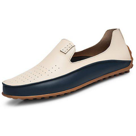 PU Leather Casual Business Wearable Shoes for Men - BEIGE 40