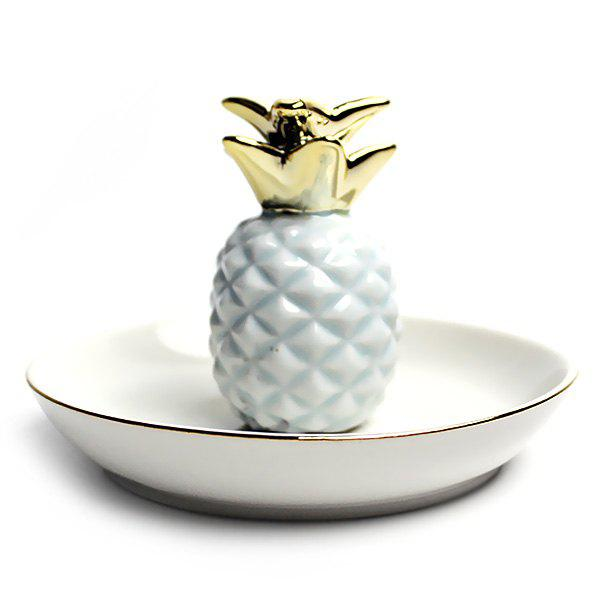 Pineapple Jewelry Gadget Ceramic Storage Dish Jar for Domestic, Powder blue