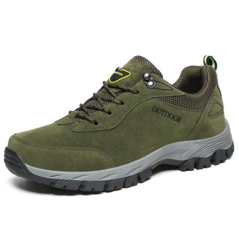 Outdoor Durable Classic Comfortable Anti-slip Hiking Shoes for Men - ARMY GREEN 45
