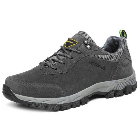 Outdoor Durable Classic Comfortable Anti-slip Hiking Shoes for Men - GRAY DOLPHIN 41