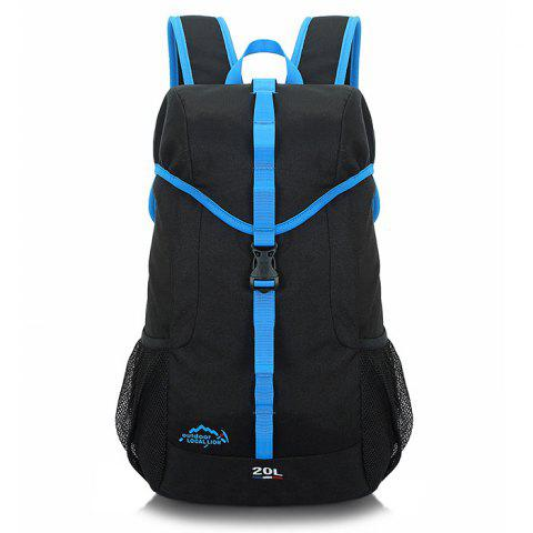 OutdoorLocallion Canvas Backpack for Travel - BLACK