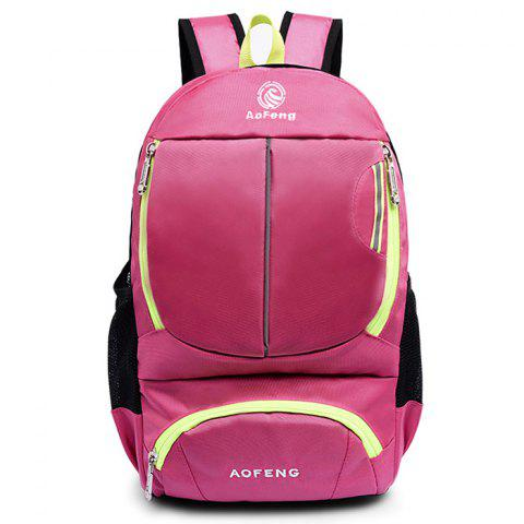 AOFENG 020 Men's Casual Backpack Fashion Sport Outdoor Travel School Bag - TULIP PINK