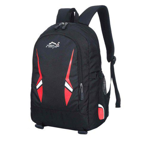 OutdoorLocallion Fashion Simple Style Backpack for School Travel - LAVA RED