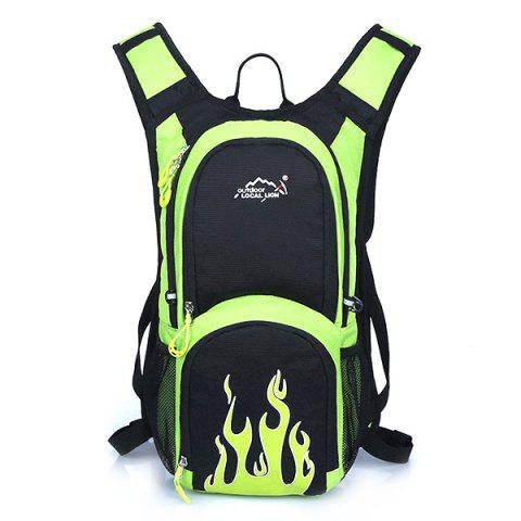 OutdoorLocallion Light Weight Backpack for Travel Sports - GREEN APPLE