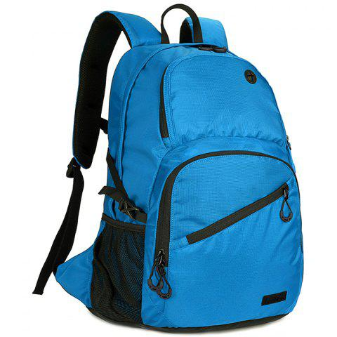 OutdoorLocation 560 Large Capacity Casual Backpack for Traveling - BLUE DRESS