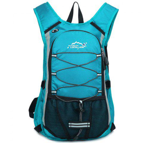 OutdoorLocallion Casual Waterproof Backpack for Camping Cycling - LIGHT BLUE