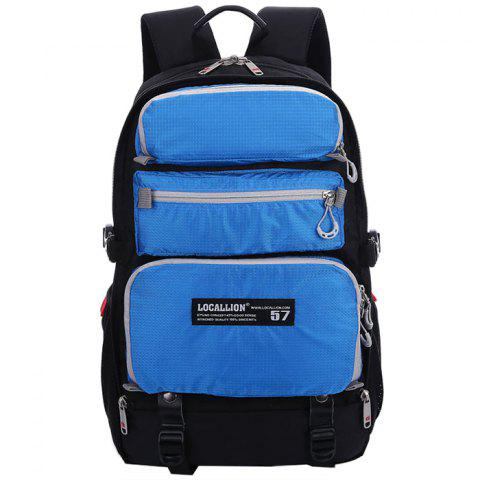 OutdoorLocallion Waterproof Nylon Casual Backpack for Hiking Traveling - BLUE RIBBON