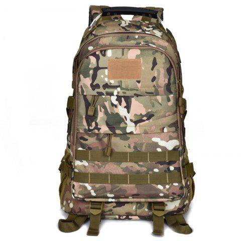 OutdoorLocallion Large Storage Backpack for Hiking Mountaineering - WOODLAND CAMOUFLAGE