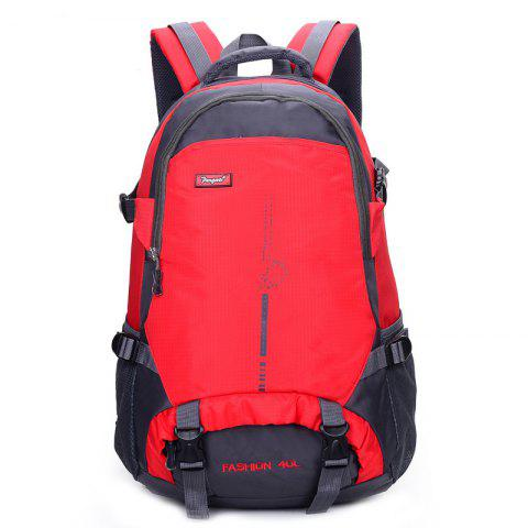 Outdoor Sports Backpack for Mountaineering Hiking Cycling - LOVE RED