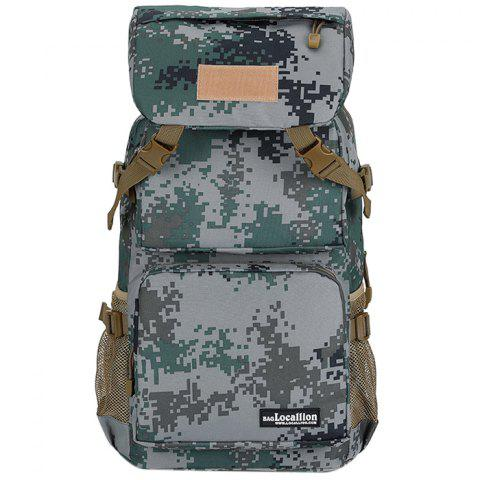 OutdoorLocation 555 Large Capacity Waterproof  Backpack for Hiking - DIGITAL WOODLAND CAMOUFLAGE